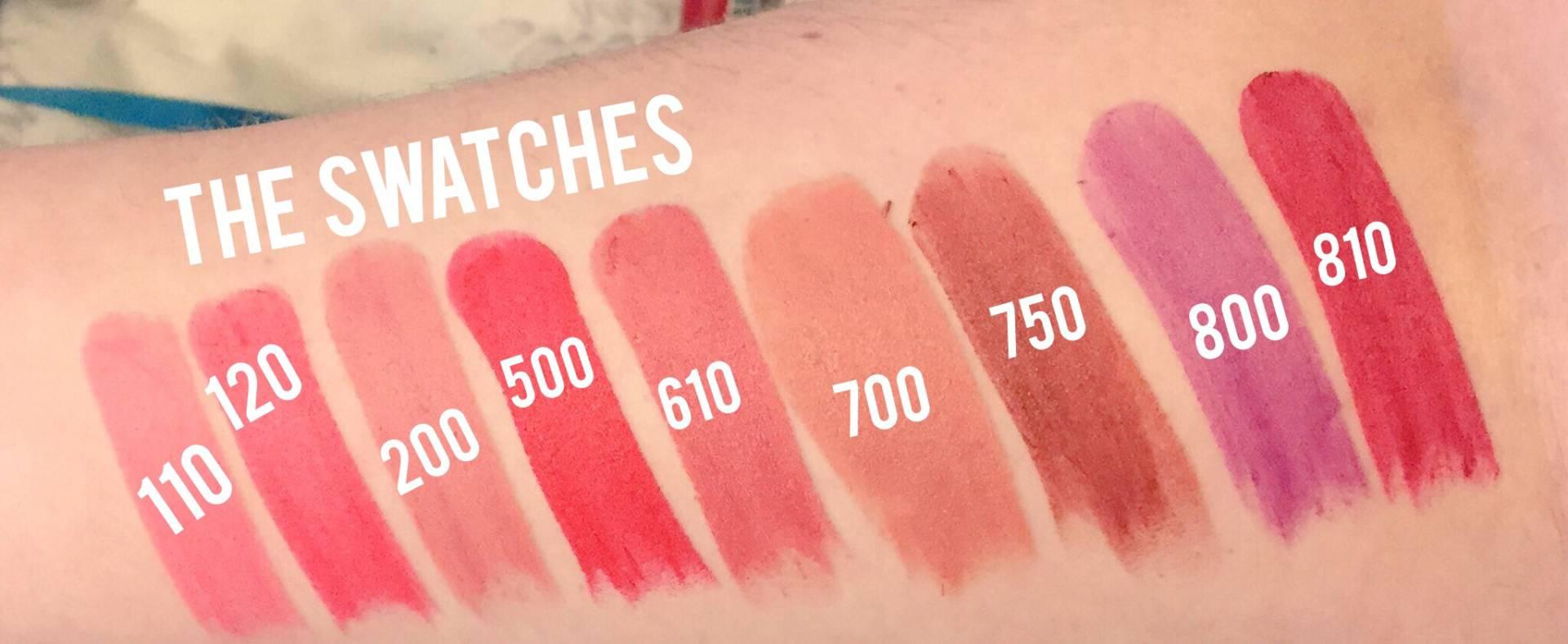Drugstore-Matte-lipstick-swatched